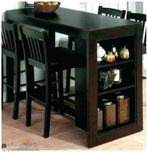 میز ناهارخوری کم جا و تاشو با قفسههای کوچک