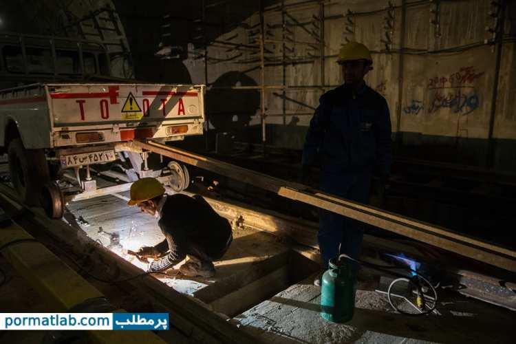 مراحل ساخت مترو در زیر زمین