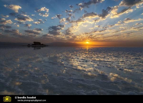 دریاچه ارومیه از دریچه دوربین بردیا سعادت