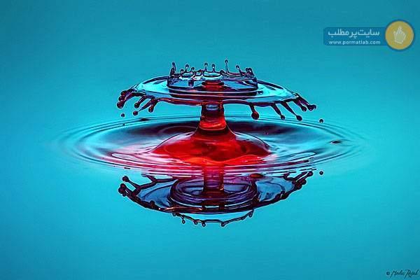 برخورد قطره های آب