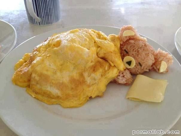 تزیین غذا در آشپزیهای ژاپنی به صورت جانداران
