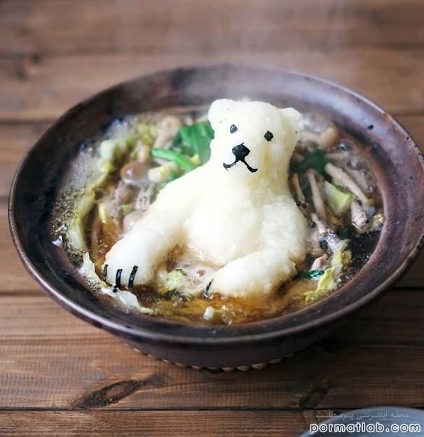 تزیین غذا در آشپزیهای ژاپنی به صورت جانداران - سایت پر مطلب