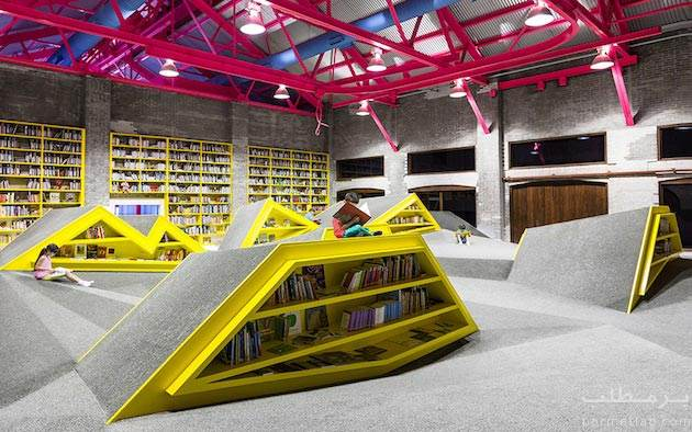 یک کتابخانه کودک در مکزیک با معماری دیدنی