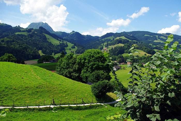 عکس طبیعت روستایی سوییس