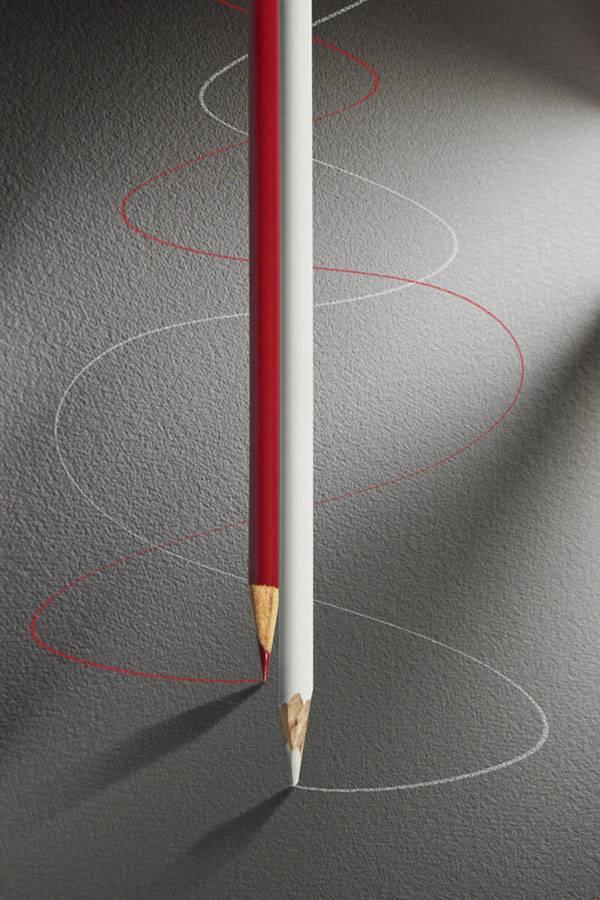 سوژه های خلاقانه ساده از مداد و کاغذ